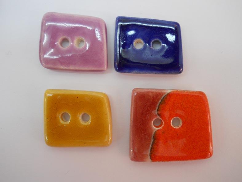 botons de ceràmica en forma de trapeci