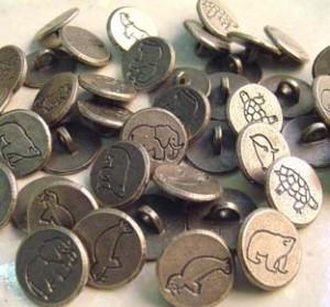 botones de metal animales peligro de extinción