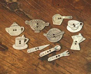 botones de metal cocina