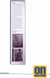prensa revista On noviembre 2008