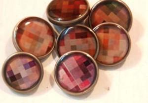 botones de resinas cuadrados