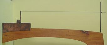 escultura de madera barco