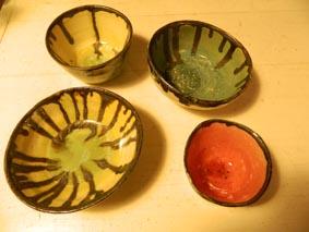 curs de cerámicaquatre bols