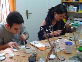 curs de cerámica pintant