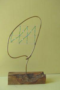 esculturas con cuentasCara perfil