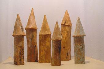 Esculturas de cerámica Sitjes per gra
