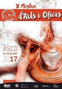 X mostra d'art i oficisd'Ascó cartell