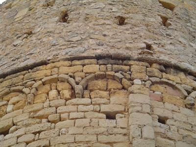 detall del mur exterior del absis